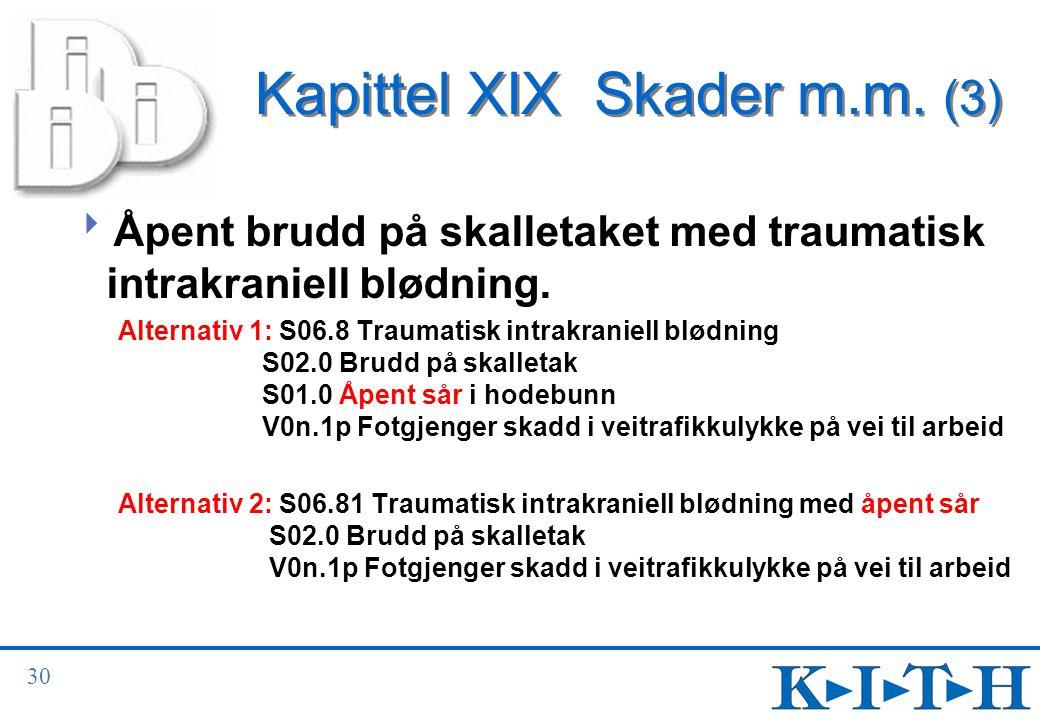 Kapittel XIX Skader m.m. (3)