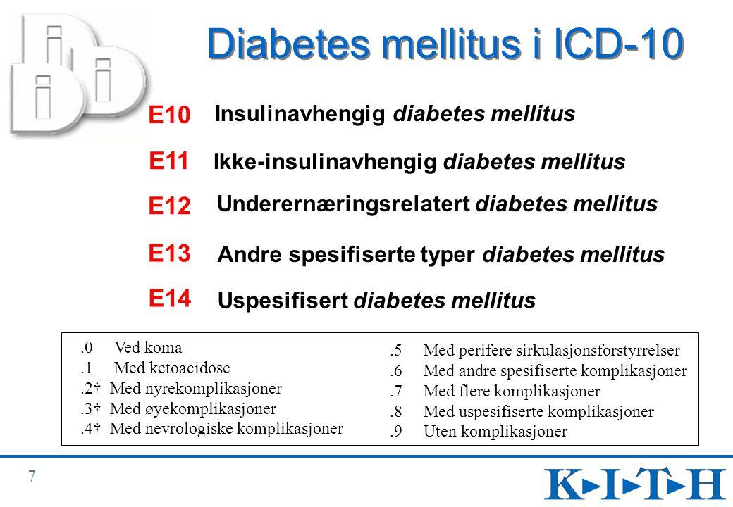 Diabetes mellitus i ICD-10