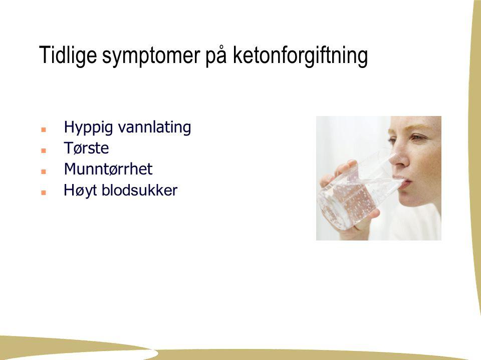 Tidlige symptomer på ketonforgiftning