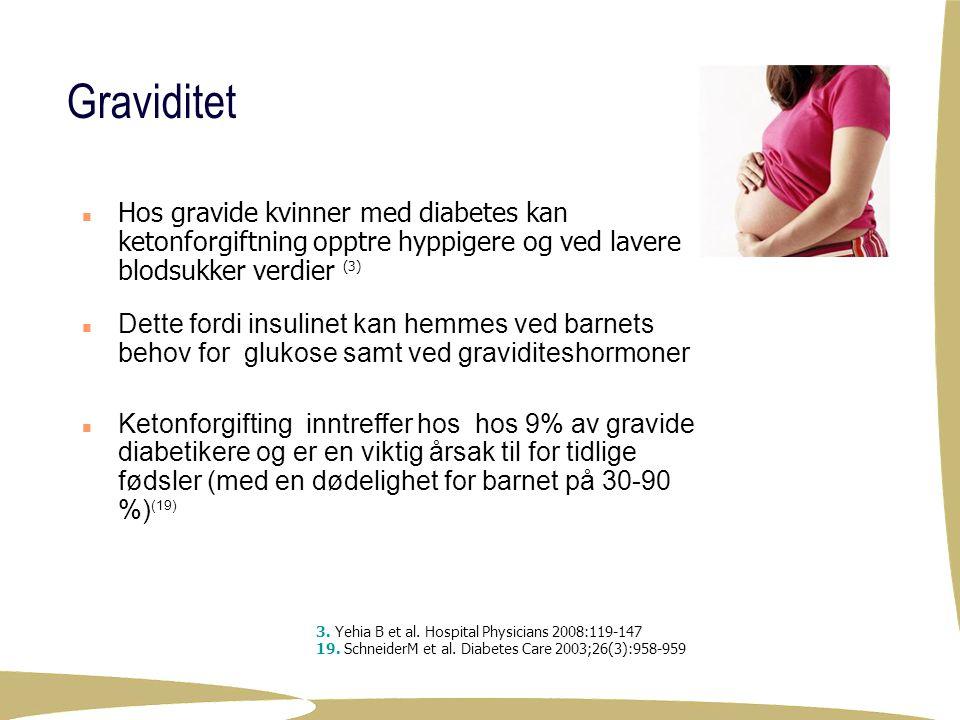4/4/2017 Graviditet. Hos gravide kvinner med diabetes kan ketonforgiftning opptre hyppigere og ved lavere blodsukker verdier (3)