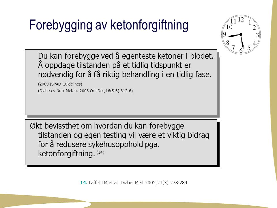 Forebygging av ketonforgiftning