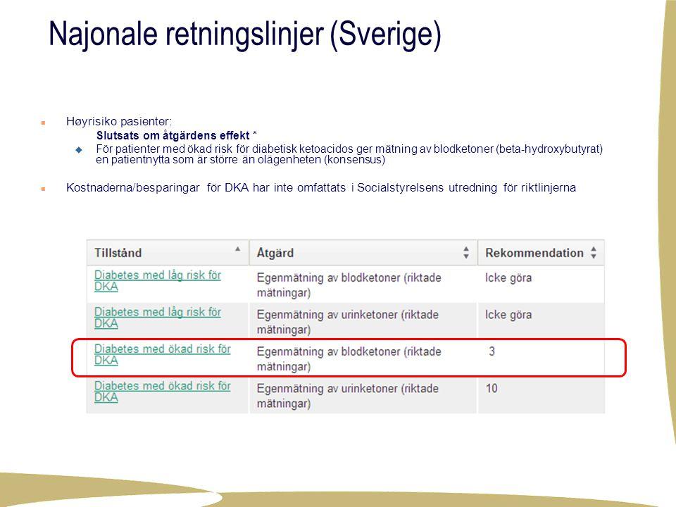 Najonale retningslinjer (Sverige)