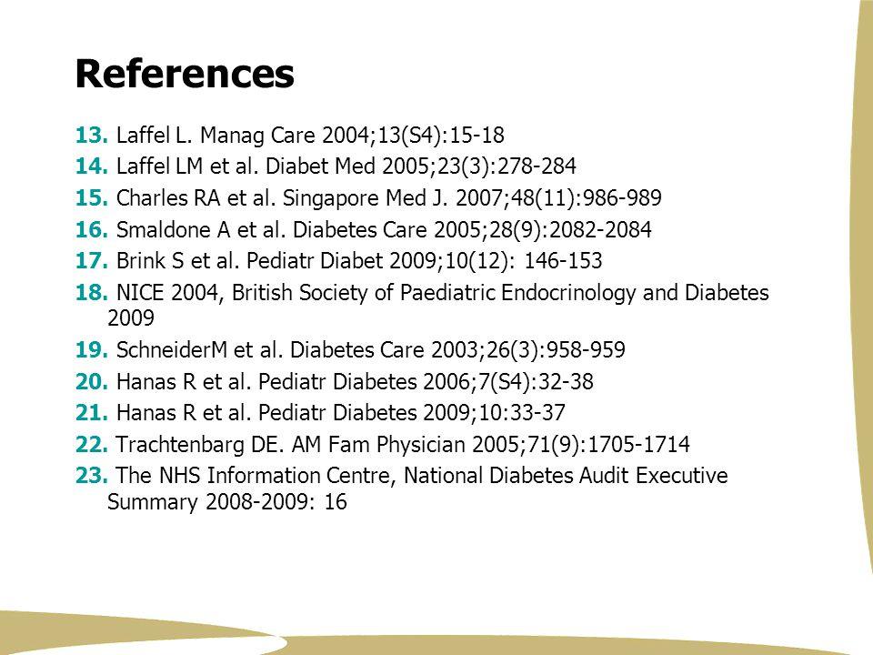 References 13. Laffel L. Manag Care 2004;13(S4):15-18