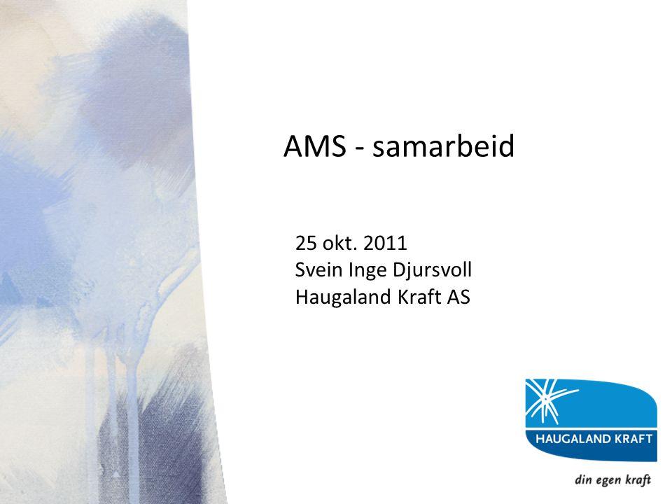 AMS - samarbeid 25 okt. 2011 Svein Inge Djursvoll Haugaland Kraft AS