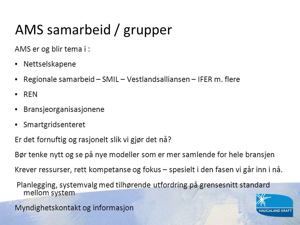 AMS samarbeid / grupper