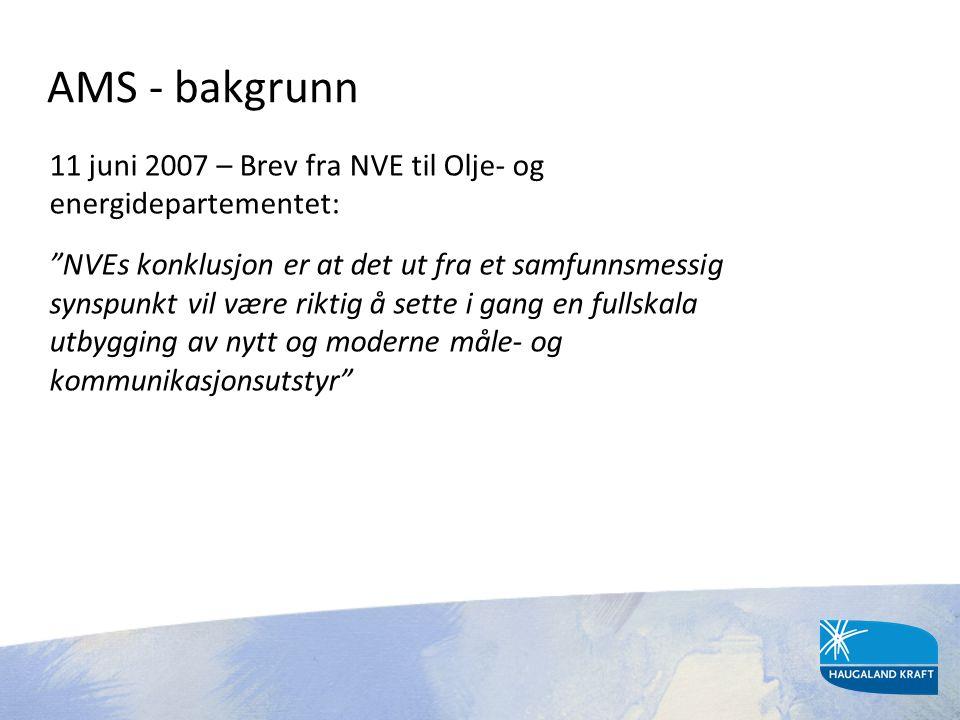 AMS - bakgrunn 11 juni 2007 – Brev fra NVE til Olje- og energidepartementet: