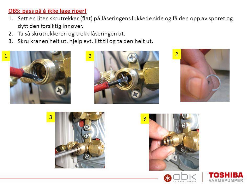 OBS: pass på å ikke lage riper!