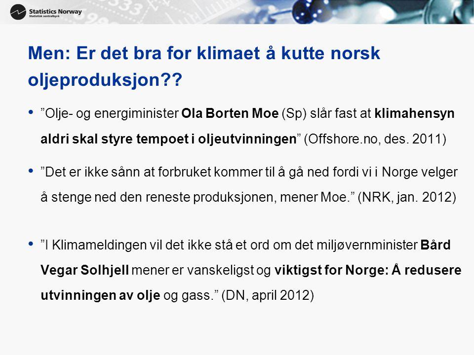 Men: Er det bra for klimaet å kutte norsk oljeproduksjon
