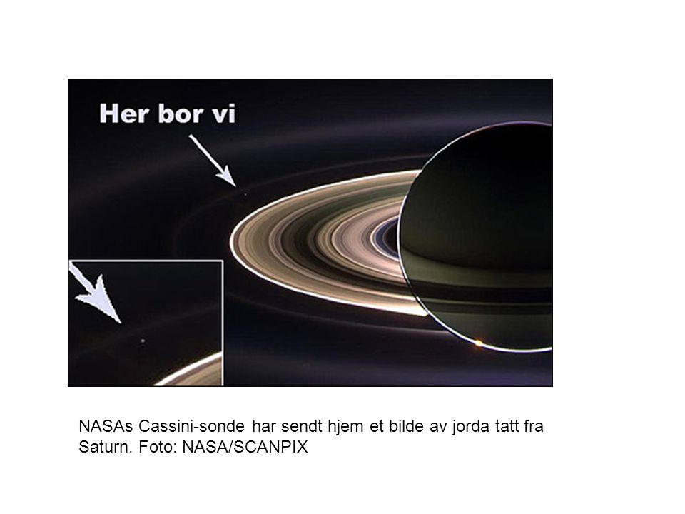 NASAs Cassini-sonde har sendt hjem et bilde av jorda tatt fra Saturn