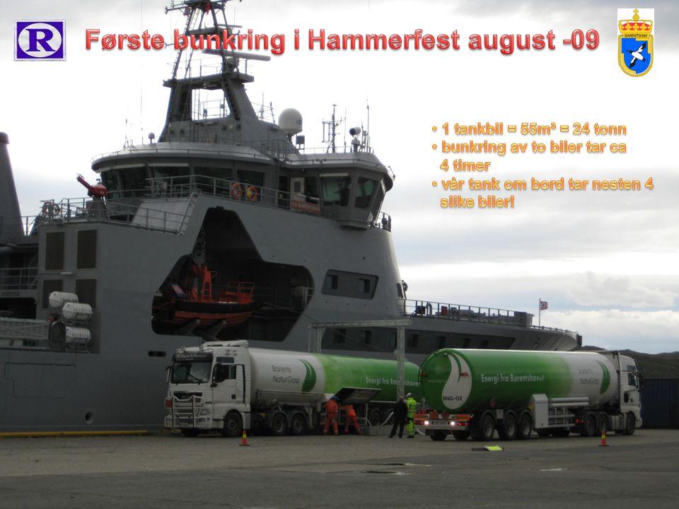 Første bunkring i Hammerfest august -09