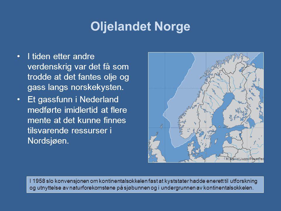 Oljelandet Norge I tiden etter andre verdenskrig var det få som trodde at det fantes olje og gass langs norskekysten.