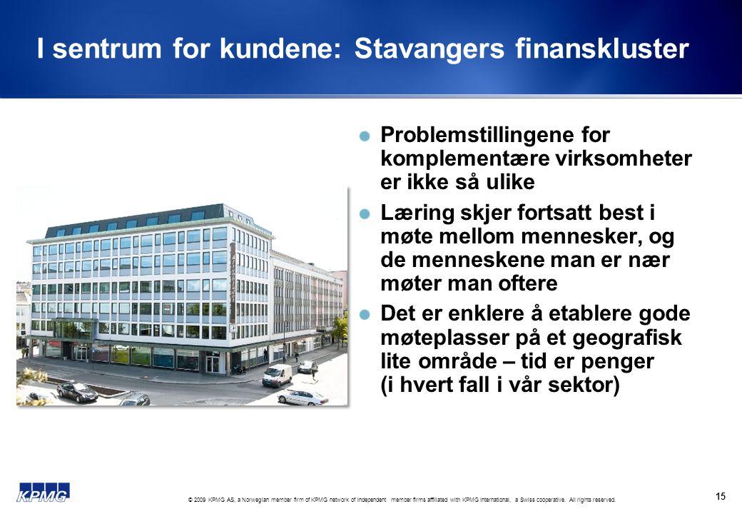 I sentrum for kundene: Stavangers finanskluster