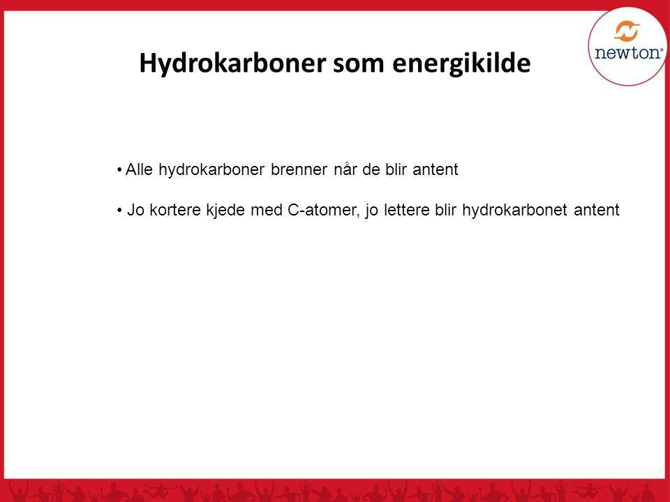 Hydrokarboner som energikilde