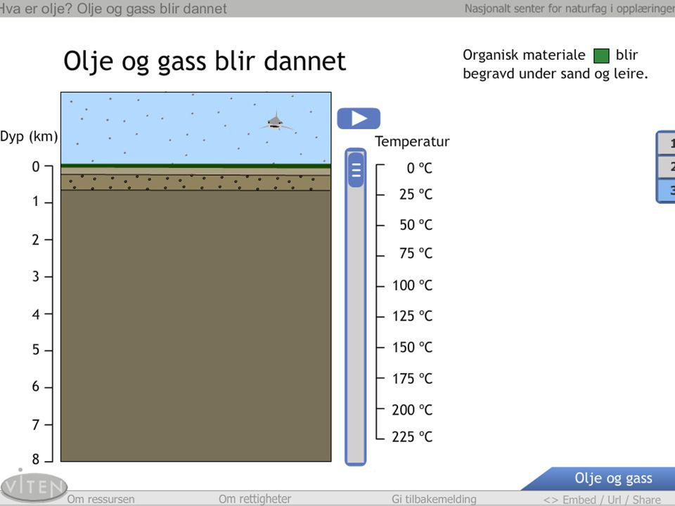 Råolje og naturgass ligger ikke i undersjøiske sjøer eller huler, men er lagret i bergarter med spesielle egenskaper. Disse kaller vi reservoarbergart. Sandstein er et eksempel på en reservoarbergart. Sandstein sendes rundt til elevene. Elevene beskriver sandsteinen. Sandkornene i sandstein kan sammenlignes med klinkekuler i et begerglass. Newton-lærer demonstrerer hvor oljen er i steinen ved å helle vann i begerglasset med klinkekuler. Elevene diskuterer hvordan modellen beskriver sandsteinen fylt med olje.