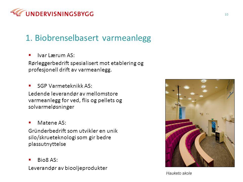 1. Biobrenselbasert varmeanlegg