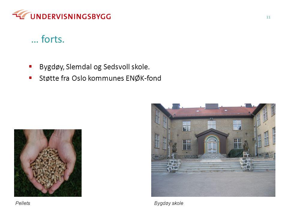 … forts. Bygdøy, Slemdal og Sedsvoll skole.