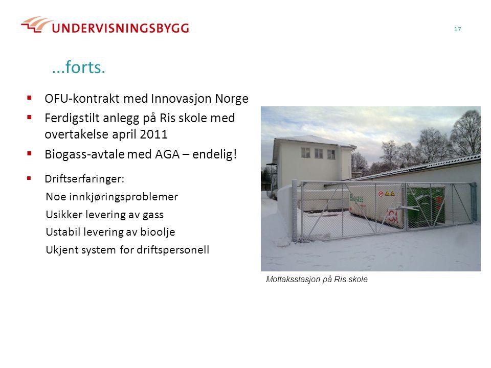 ...forts. OFU-kontrakt med Innovasjon Norge