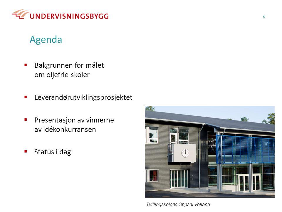 Agenda Bakgrunnen for målet om oljefrie skoler