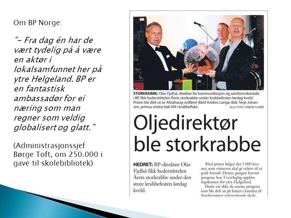 Om BP Norge: