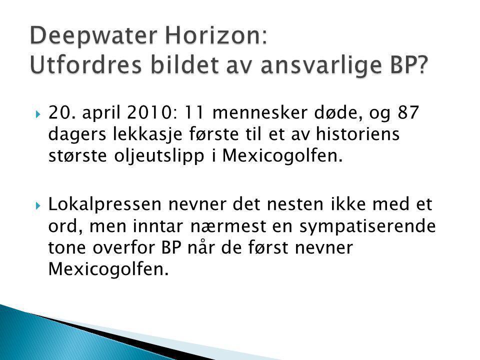 Deepwater Horizon: Utfordres bildet av ansvarlige BP