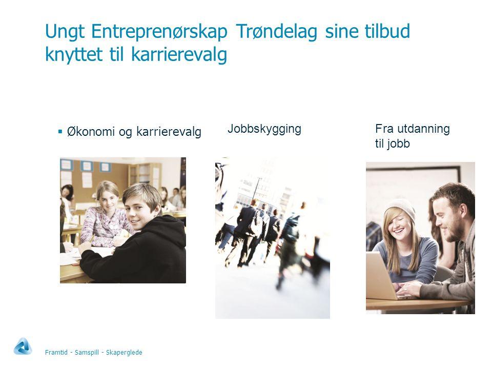 Ungt Entreprenørskap Trøndelag sine tilbud knyttet til karrierevalg