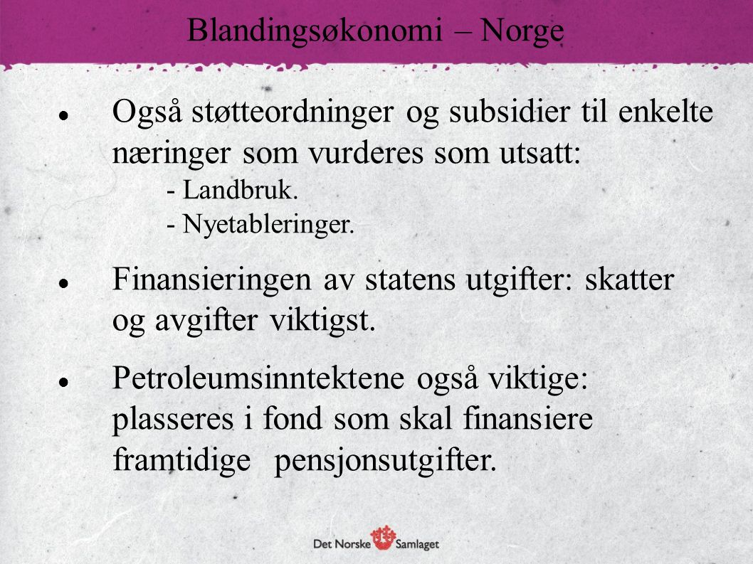 Blandingsøkonomi – Norge