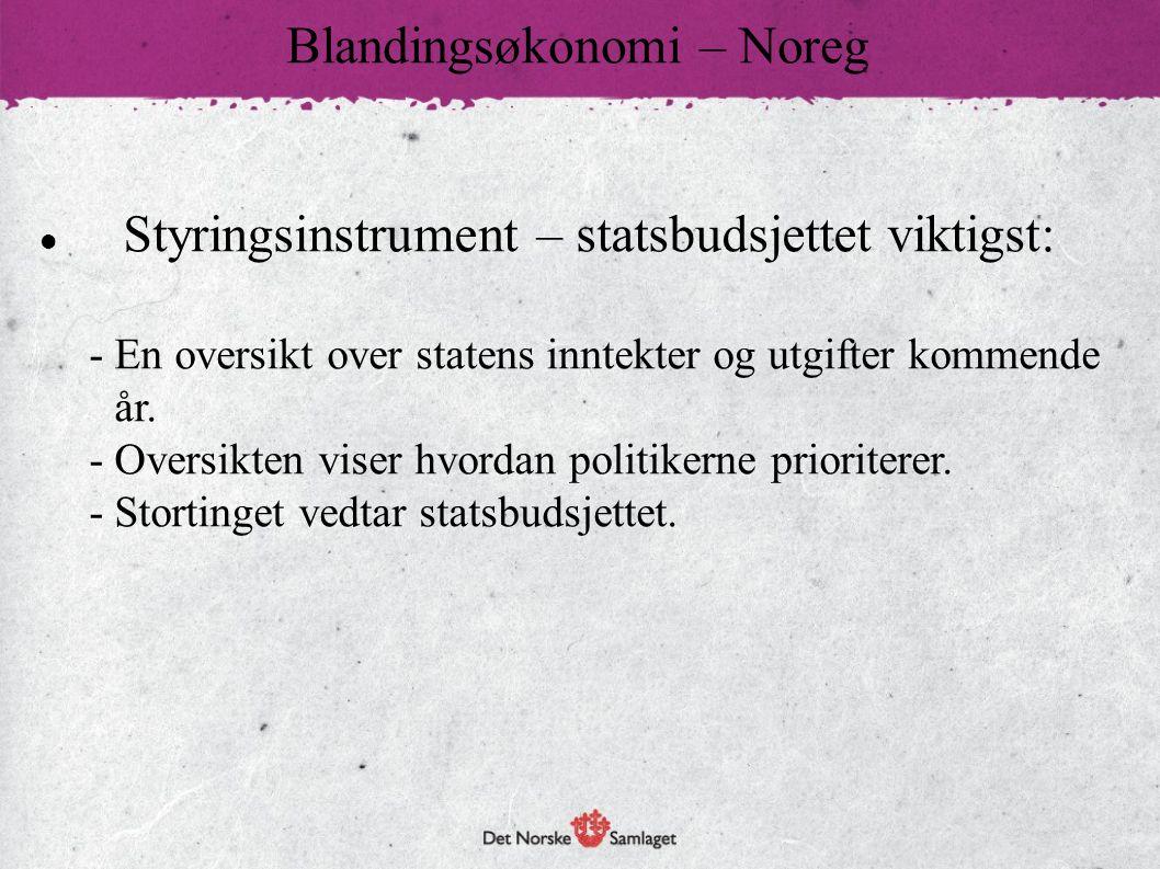 Blandingsøkonomi – Noreg