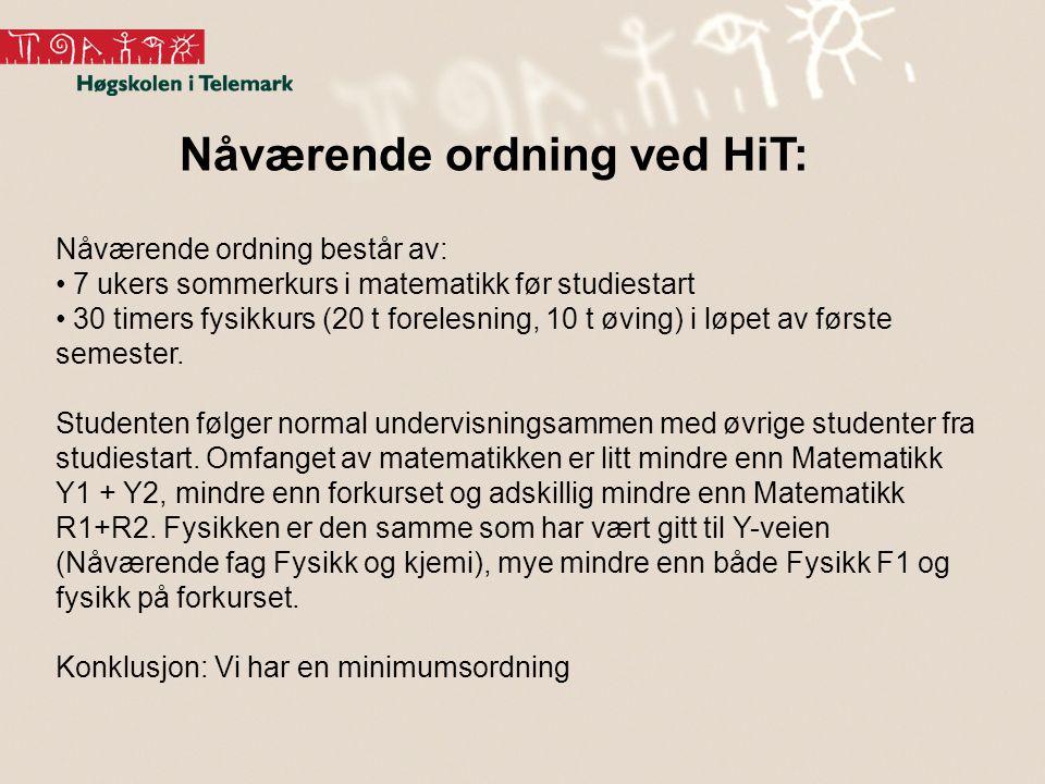 Nåværende ordning ved HiT: