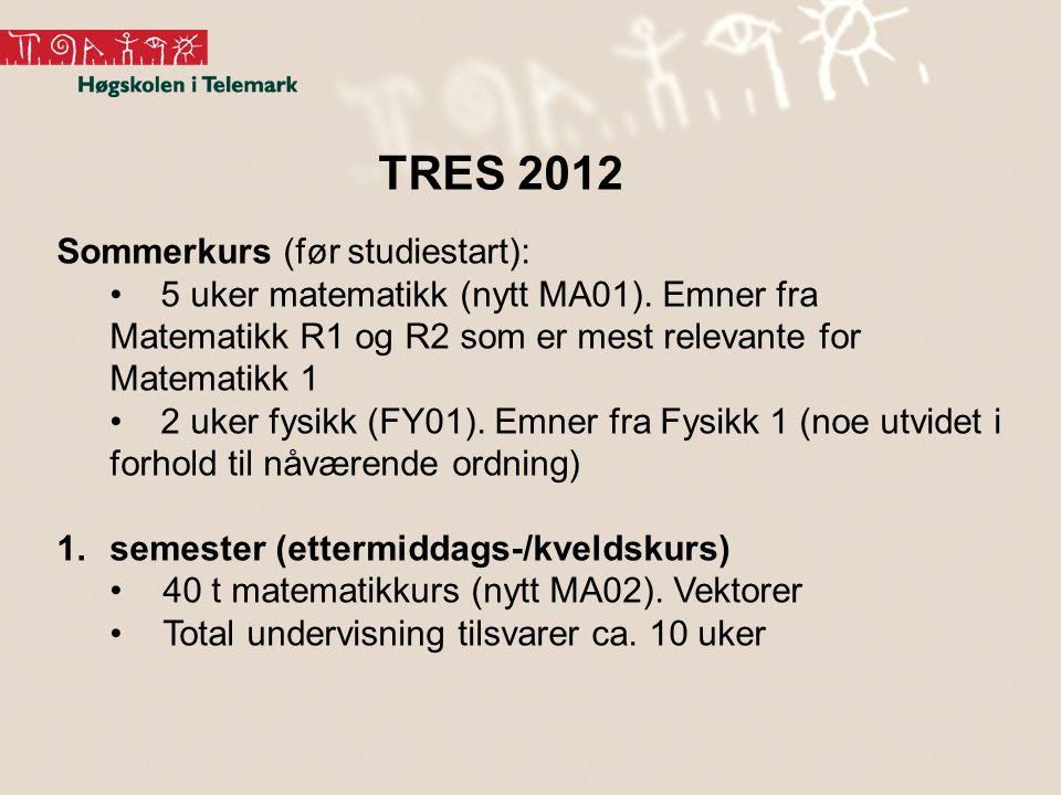 TRES 2012 Sommerkurs (før studiestart):