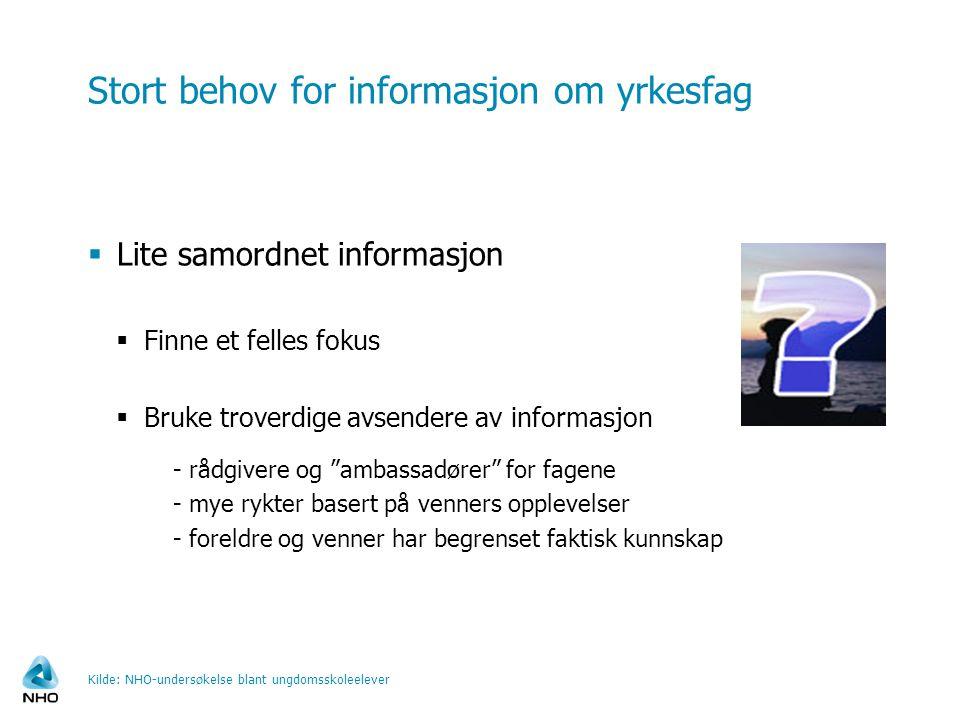Stort behov for informasjon om yrkesfag
