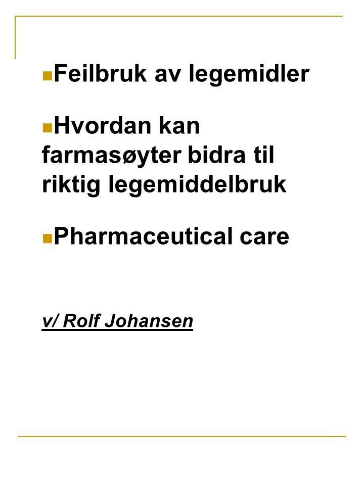 Feilbruk av legemidler
