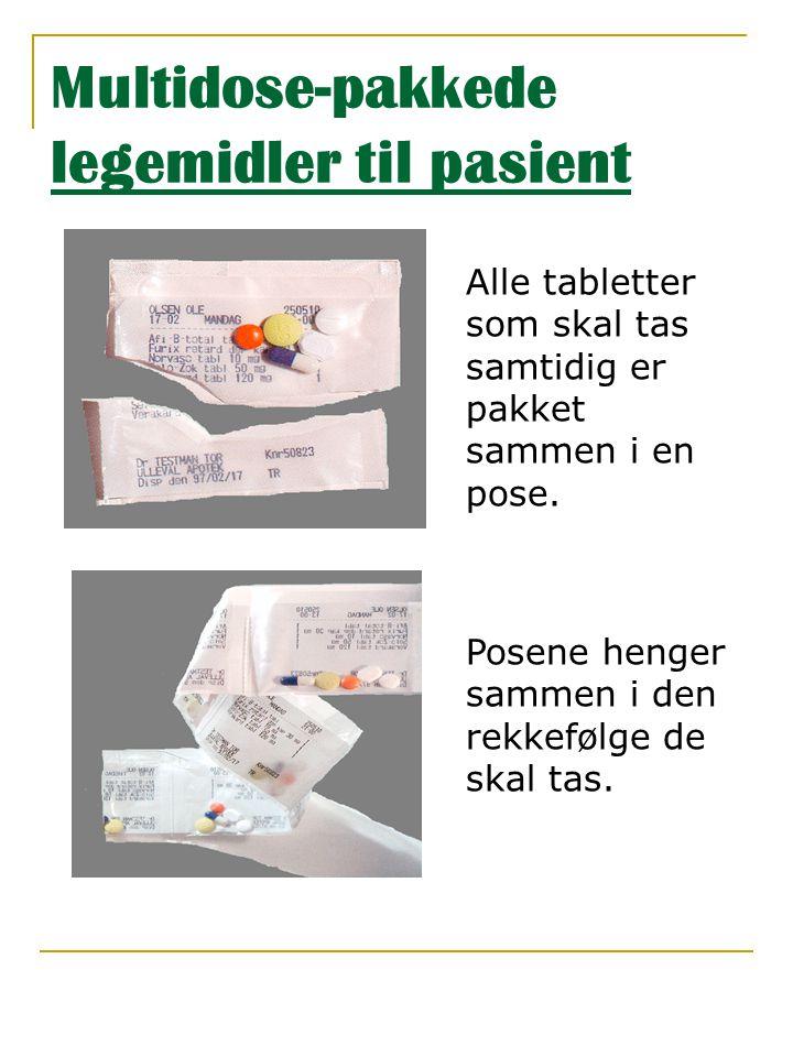 Multidose-pakkede legemidler til pasient
