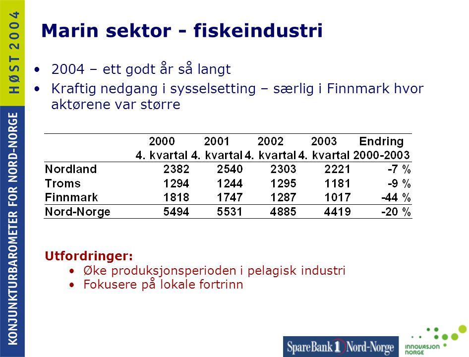 Marin sektor - fiskeindustri