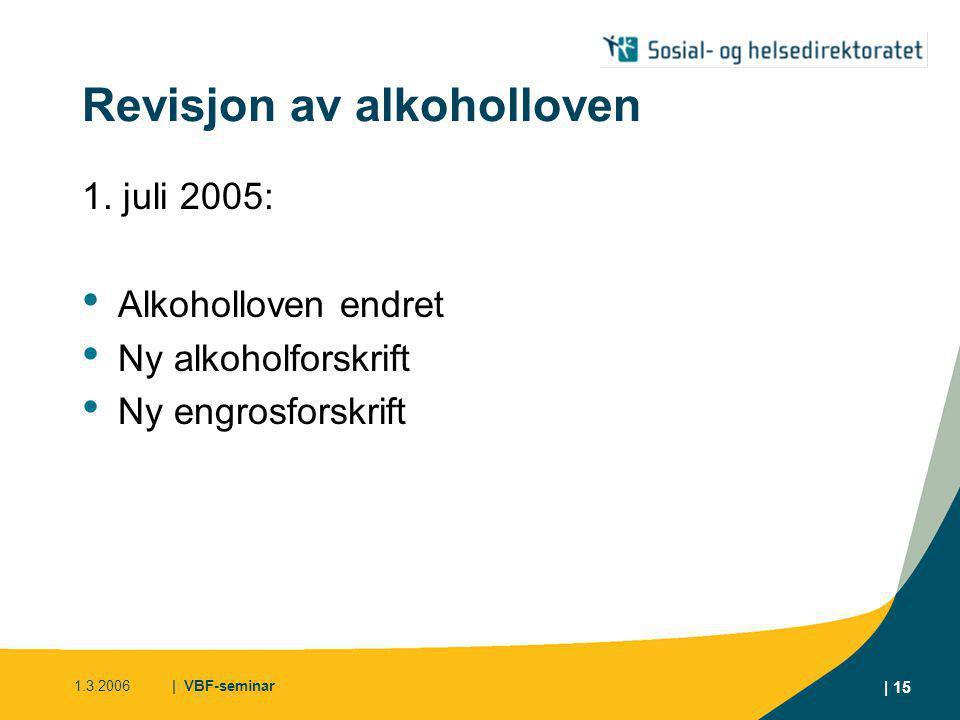 Revisjon av alkoholloven