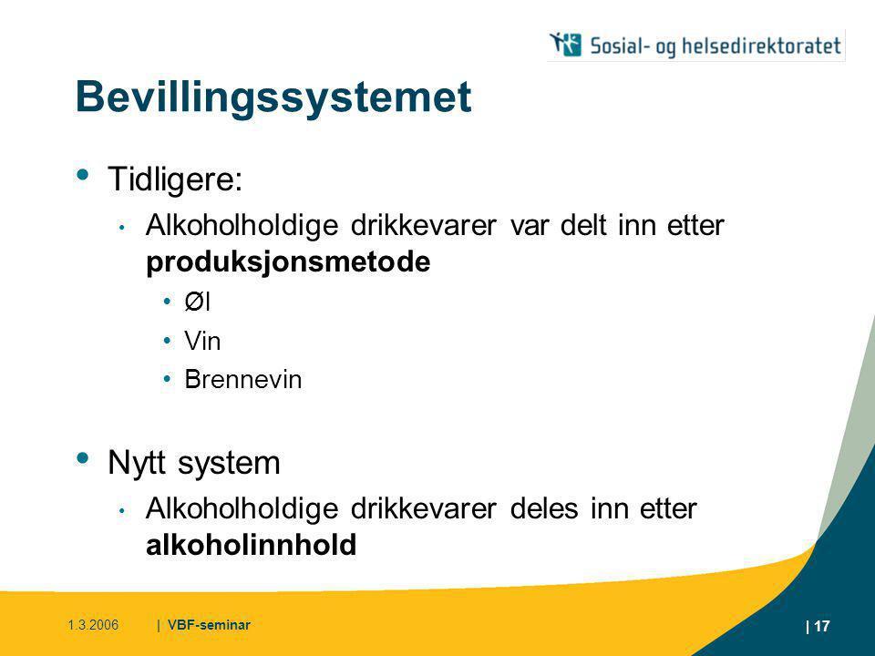 Bevillingssystemet Tidligere: Nytt system