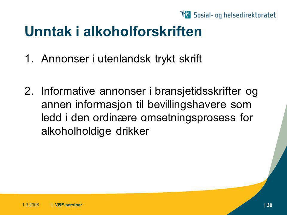 Unntak i alkoholforskriften