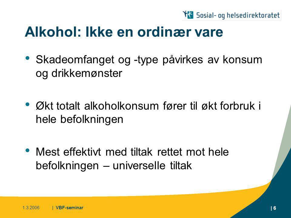 Alkohol: Ikke en ordinær vare