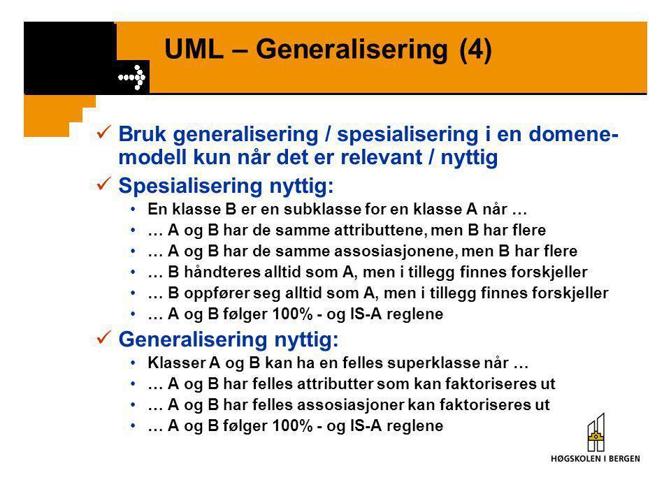 UML – Generalisering (4)