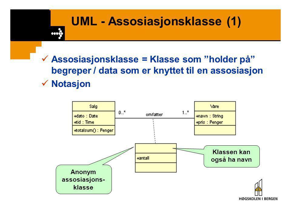 UML - Assosiasjonsklasse (1)