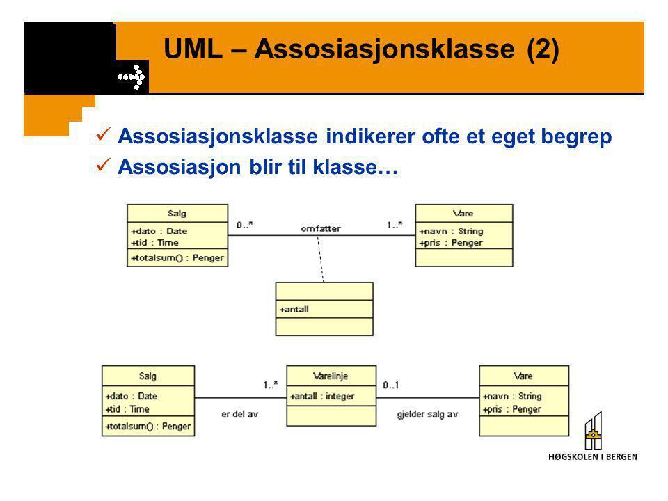 UML – Assosiasjonsklasse (2)