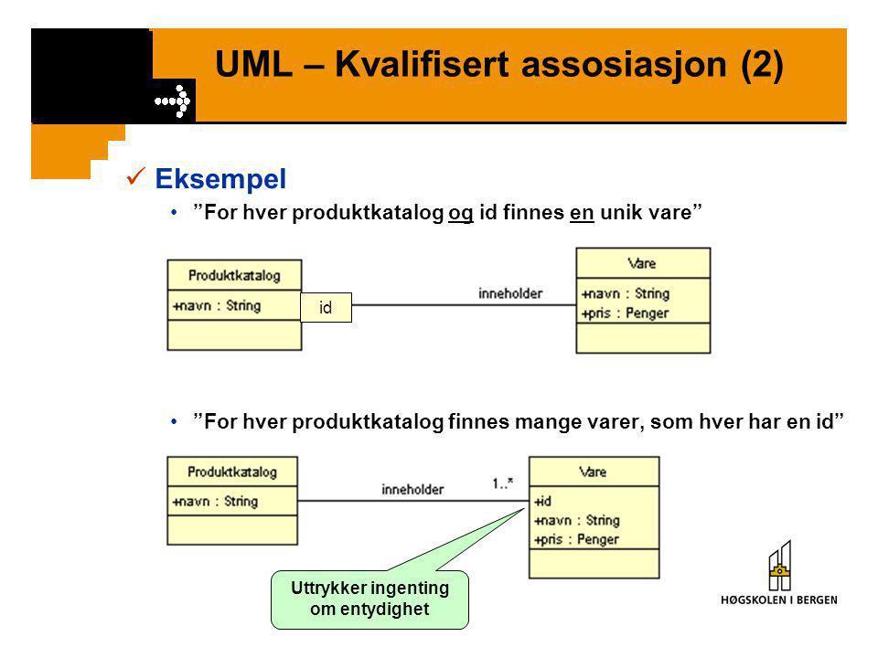 UML – Kvalifisert assosiasjon (2)