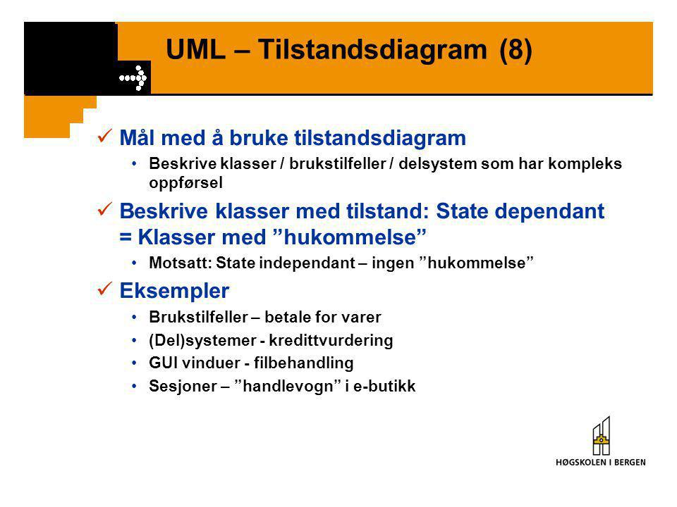 UML – Tilstandsdiagram (8)