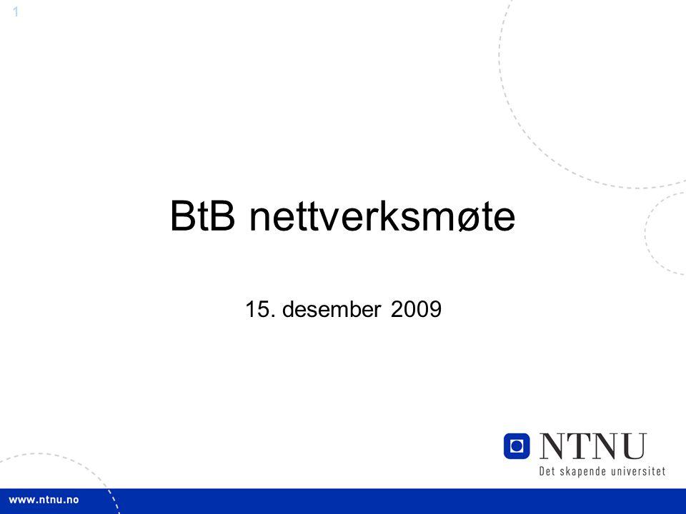 BtB nettverksmøte 15. desember 2009