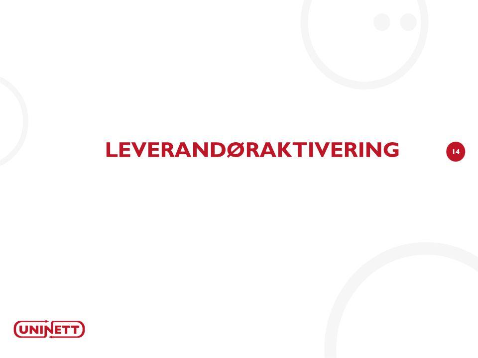 LEVERANDØRAKTIVERING
