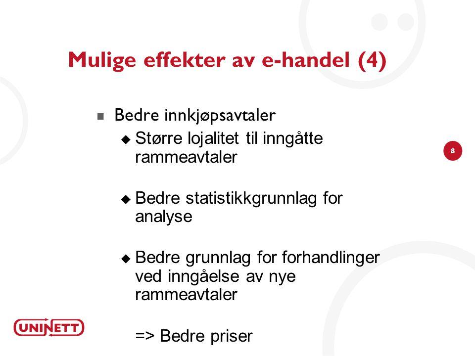 Mulige effekter av e-handel (4)