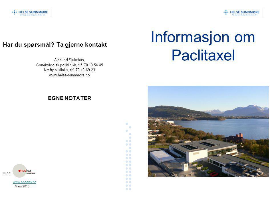 Informasjon om Paclitaxel