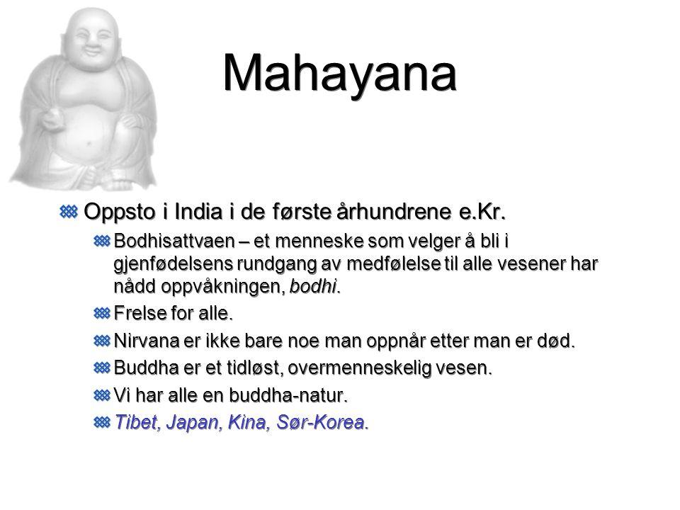 Mahayana Oppsto i India i de første århundrene e.Kr.