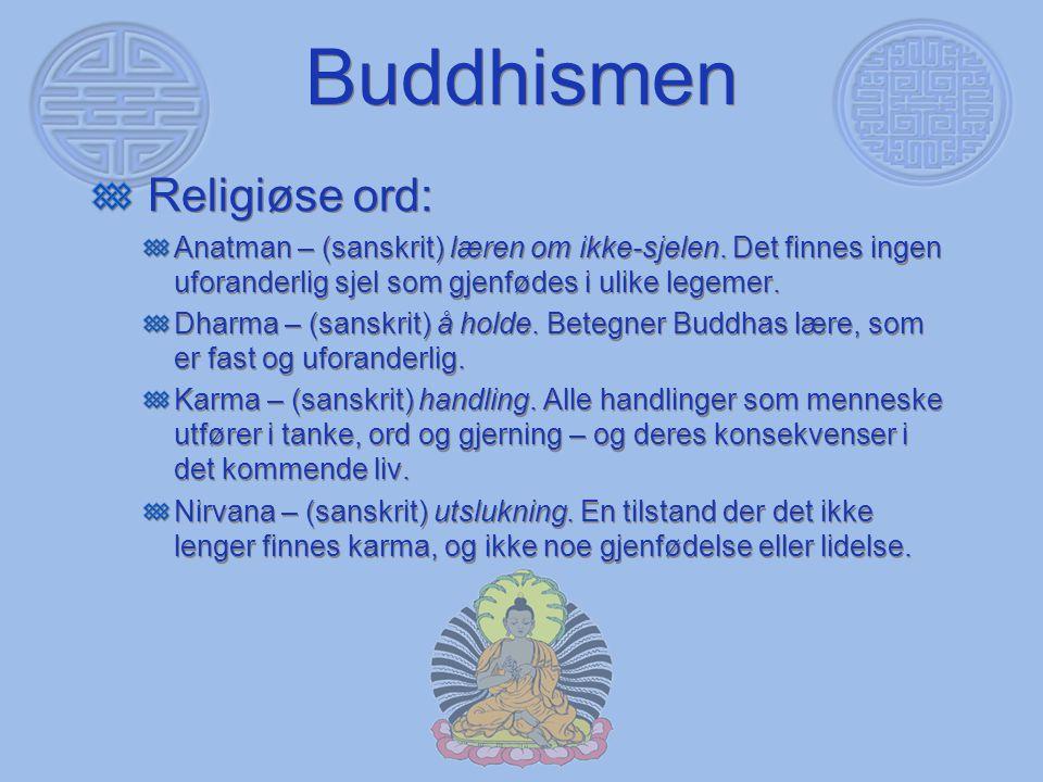 Buddhismen Religiøse ord:
