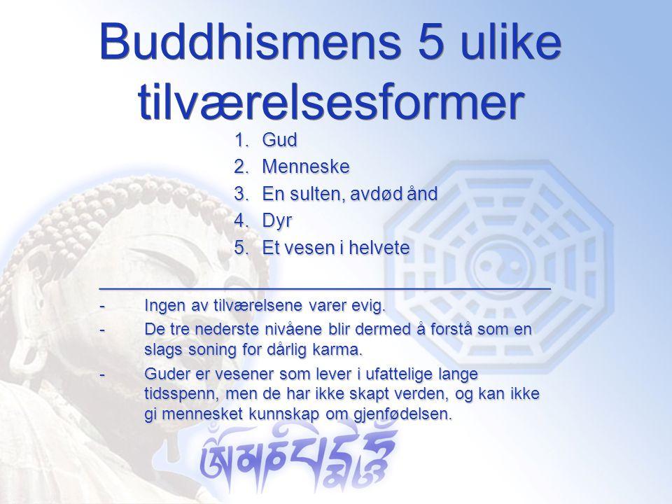 Buddhismens 5 ulike tilværelsesformer