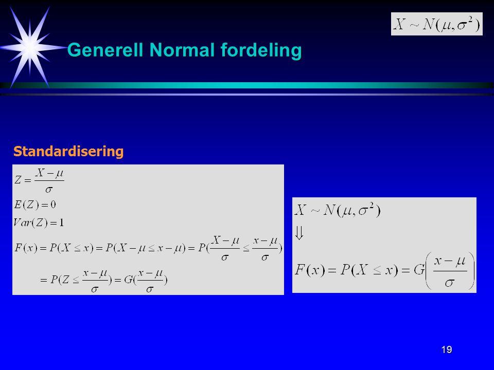 Generell Normal fordeling